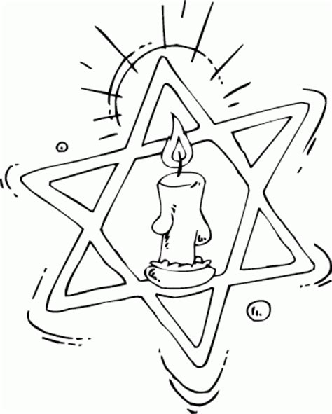 coloring page star of david star of david candle center coloring picture