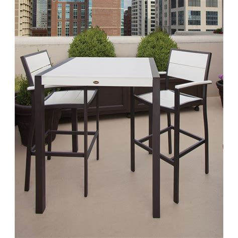 Outside Patio Bar Furniture by Leisure Accents Portabello Resin 5 Patio Bar Set