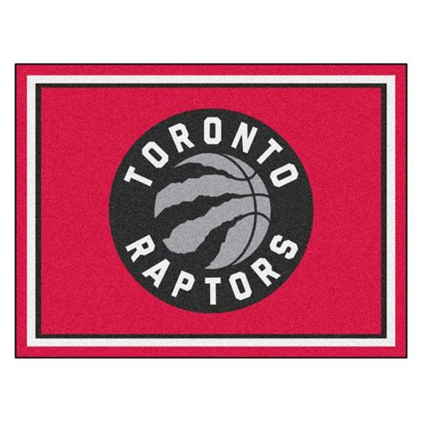 nba rugs fanmats nba toronto raptors 8 ft x 10 ft indoor area rug 17469 the home depot