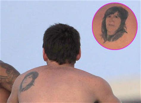 lionel messi tattoo mother pictures lionel messi s new tattoo for his son thiago
