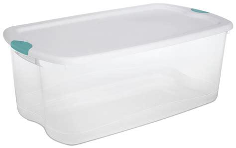 large plastic containers large big sterilite plastic 66 qt quart clear storage box container latching lid ebay