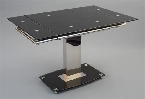 enzo glass dining table extending modern furniture direct
