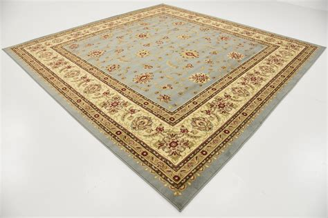 10 Square Rugs Blue - light blue 10 x 10 classic agra square rug area rugs