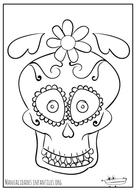 dibujos para colorear calaveras de dia de muertos dibujos d 237 a de muertos manualidades infantiles