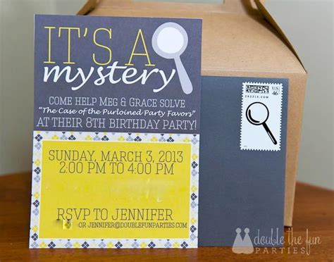 Wedding Announcement Clue by Mystery Invitation Templates