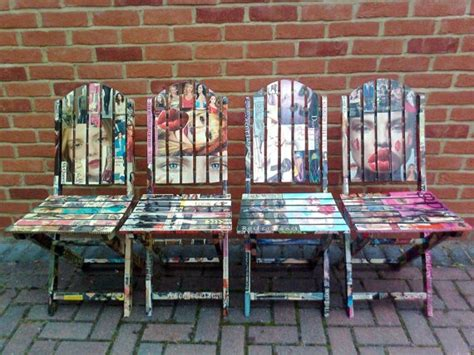 Decoupage For Outdoors - decoupage wooden garden chairs by artdp on etsy 163 400 00
