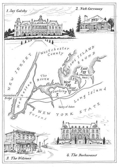 symbols in the great gatsby articles map of new york in the great gatsby by f scott fitzgerald