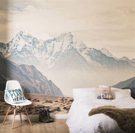 mountain wall murals mountain vista self adhesive wallpaper mural by oakdene designs notonthehighstreet