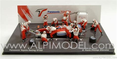 F1 Pit Stop The Collection minichs toyota f1 pit stop diorama 2003 olivier panis