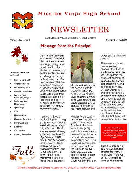 Best Photos Of Sle School Newsletter Templates Free Preschool Newsletter Template High School Newsletter Templates