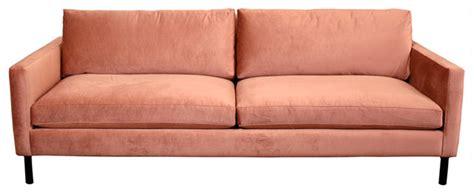 cobble hill francis metal leg sofa modern sofas by