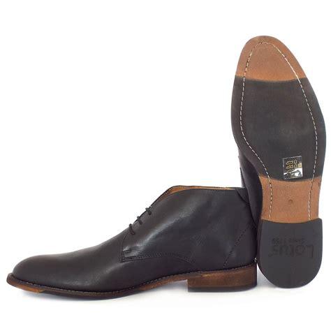 mens black chukka boots lotus richmond s casual black leather chukka boots