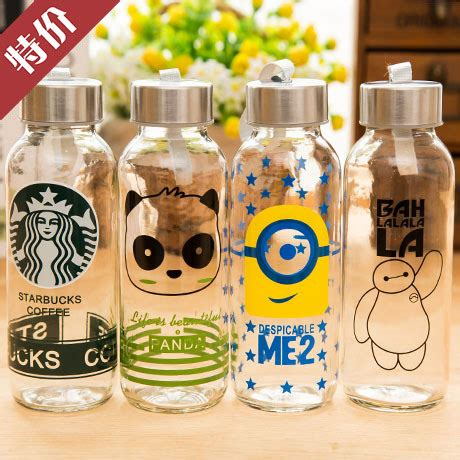 Botol Bottle H2o Infused Water 650 Ml creative portable sports glass water bottles 300ml botol
