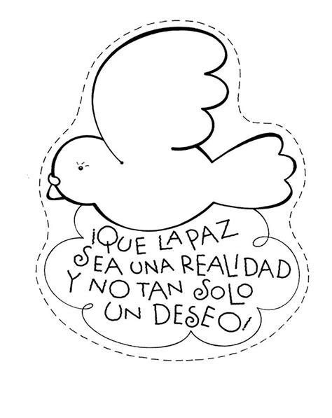 imagenes para colorear sobre la paz paloma paz sea una realidad dibujalia dibujos para