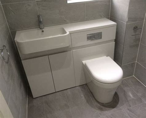combined basin and toilet unit with bathroom installation