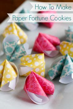 Make Paper Fortune Cookies - how to make paper fortune cookies these paper