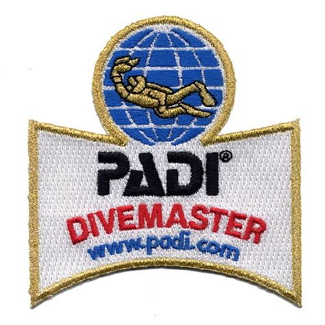 dive master padi padi divemaster shoulder patch