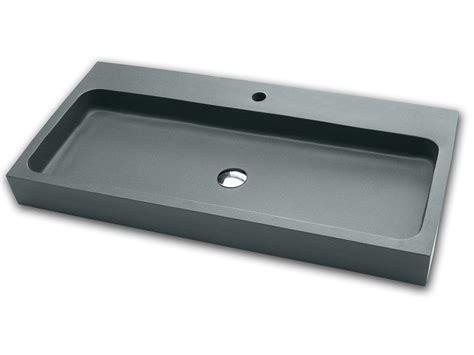 lavabo bagno resina lavabo d arredo ponza 100 resina grigio iperceramica