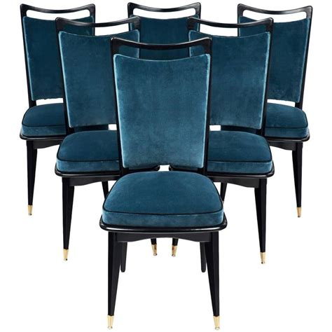set of six mid century modern dining room chairs at