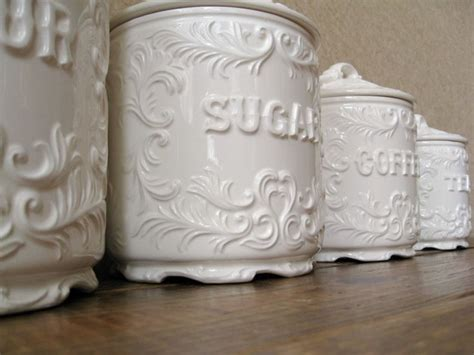 shabby chic canister set for the home pinterest