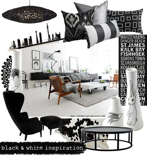 tabloid layout design inspiration bold circle cushion cover black white scatter