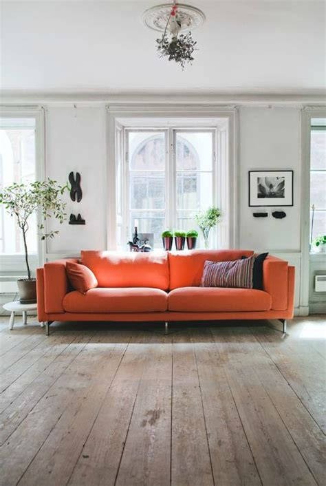 Living Room With Orange Sofa 25 Best Ideas About Orange Sofa On Pinterest Orange Sofa Design Orange Sofa Inspiration And