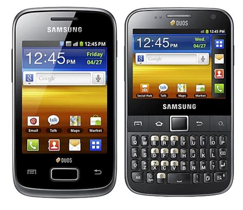 samsung 2sim mobile price samsung launches dual sim android phones galaxy y duos