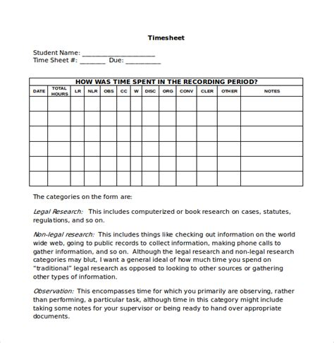 attorney timesheet template 10 attorney timesheet templates free sle exle