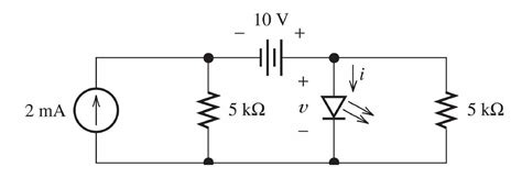 questions on light emitting diode the circuit symbol and a typical voltage ere ch chegg