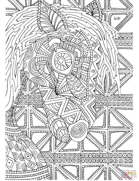 tribal pattern coloring pages horse with tribal pattern coloring page free printable