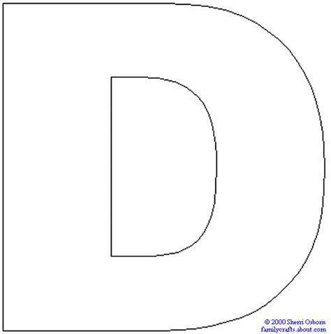 capital letter d template letter d coloring pages getcoloringpages