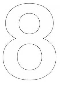 Coloring Pages Of Number 8  sketch template