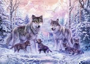 Gt puzzels 1000 stukjes gt ravensburger puzzel arctische wolven 1000
