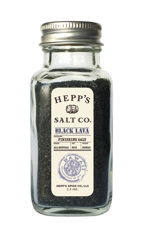 Black Lava Salt Detox by Black Lava Sea Salt Hepps Salt Co