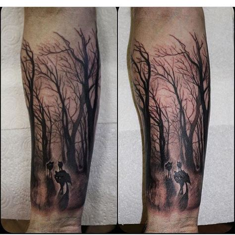 wolf forest tattoo about forest forest tattoos and tatting