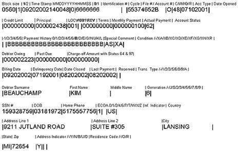 Credit Bureau Metro Format Metro 2 Format Base Segment