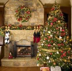 Traditional christmas decorating ideas fireplace and christmas tree