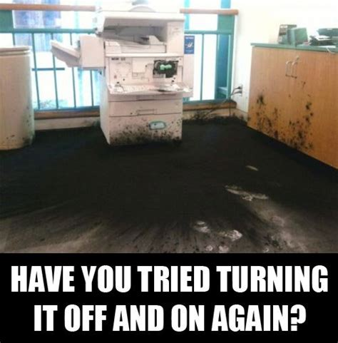 Copy Machine Meme - fire prevention safety