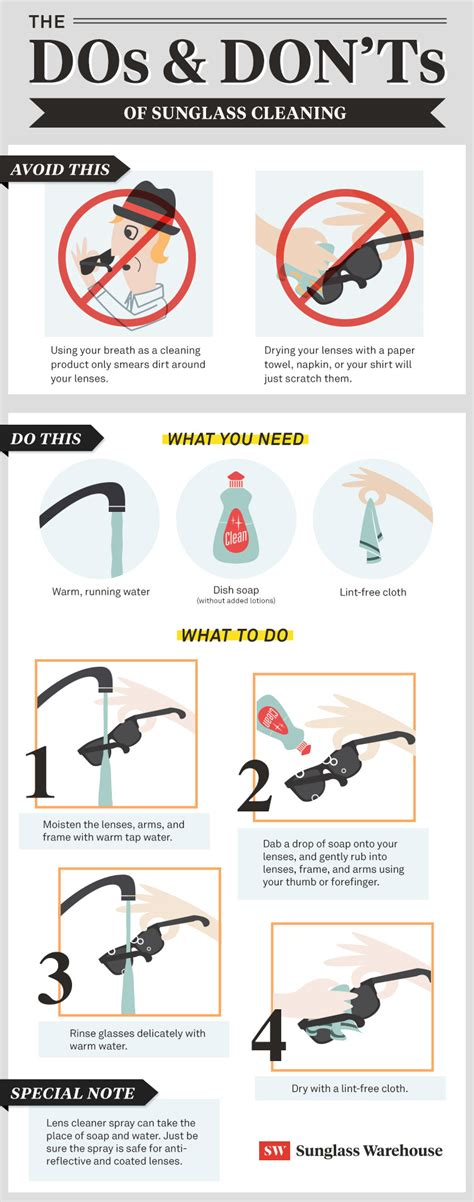 how to clean in how to clean sunglasses