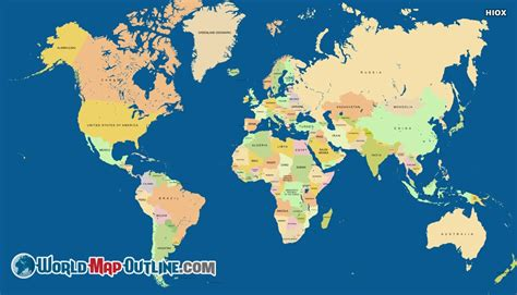 printable world map showing countries world map with country names