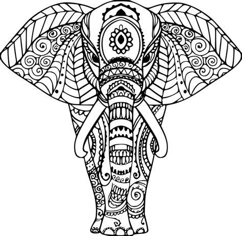 Coloriage Elephant Zen 224 Imprimer Sur Coloriages Info