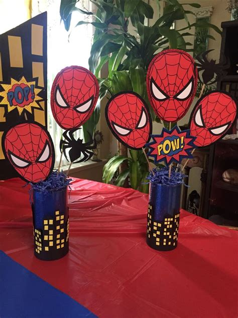 birthday themes spiderman spider man theme party table centerpieces by christina l