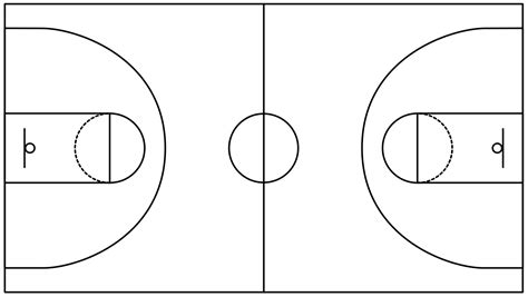 basketball court diagram basketball solution conceptdraw