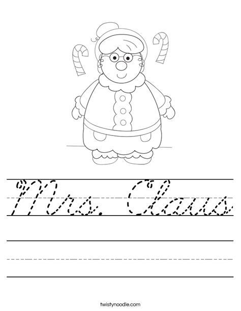 mrs claus coloring page twisty noodle mrs claus worksheet cursive twisty noodle
