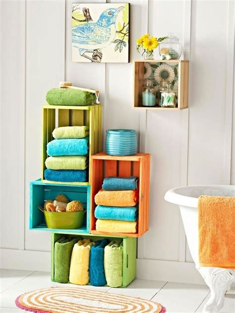 Unique Bathroom Storage 20 Creative Bathroom Towel Storage Ideas