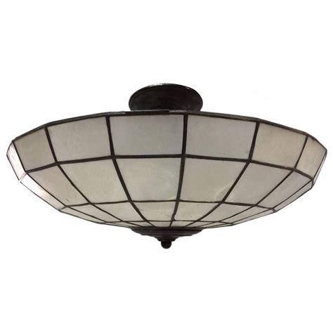 capiz ceiling light fixture for sale at 1stdibs