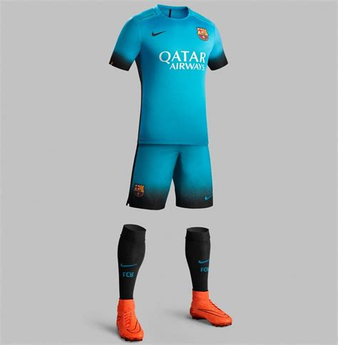 Jersey Set Adidas Messi Grey Ad08 fc barcelona reveal bright blue 2015 16 nike third kit