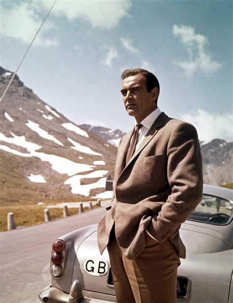 james bond goldfinger sean connery and the db5 in goldfinger james bond photo