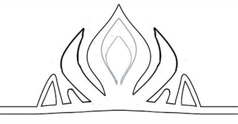 elsa crown template corona de la reina elsa de arendel mcmh moldes todos
