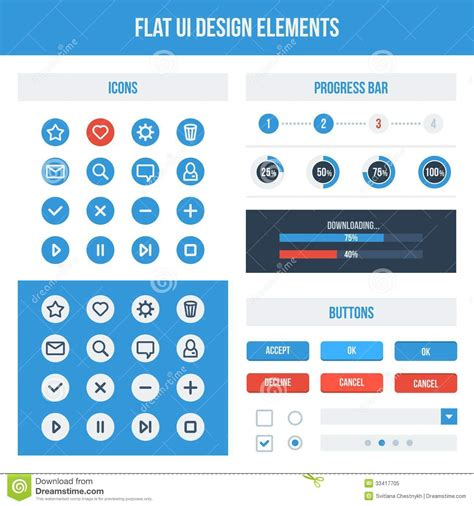 flat design ui elements flat ui design elements stock vector image of border